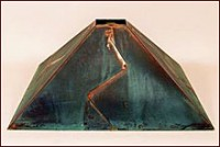 Green Copper Patina Lamp Shade